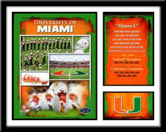 Miami Hurricanes Football Memories and Milestones Framed Picture