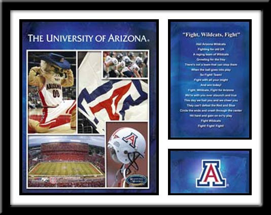 Arizona Football Memories and Milestones Framed Picture