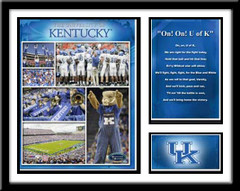 Kentucky Football Memories and Milestones Framed Picture