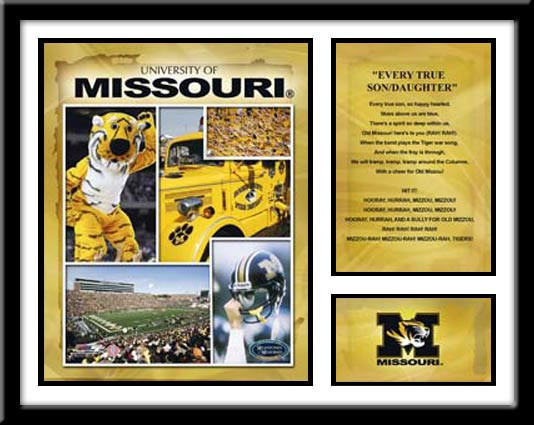 Missouri Football Memories and Milestones Framed Picture