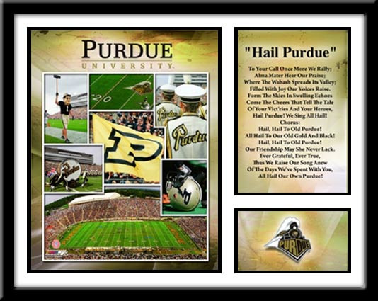 Purdue Football Memories and Milestones Framed Picture