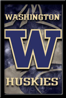 Washington Huskies Logo Framed Poster