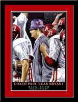 Alabama Coach Bear Bryant Commemorative Framed Poster