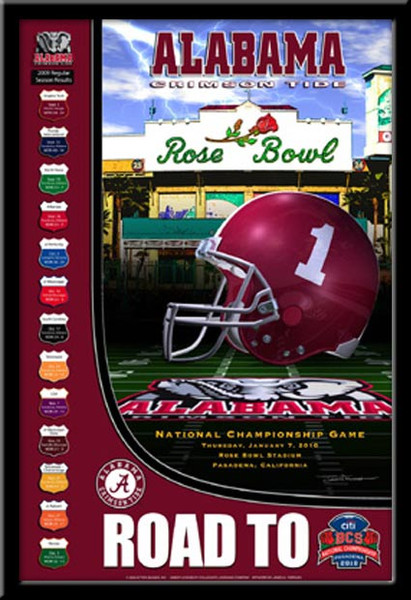 Alabama Road to the 2010 BCS Championship Game Poster
