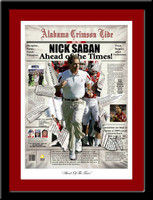 Nick Saban Print, Ahead of the Times Framed Picture