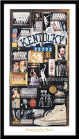 Kentucky Basketball Through the Years Framed Picture