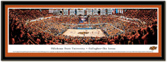 Oklahoma State Gallagher-Iba Arena Framed Basketball Poster matted