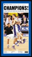 Duke 2010 NCAA National Championship Headlines Poster