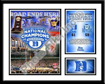 Duke Basketball Memories Framed Championship Picture