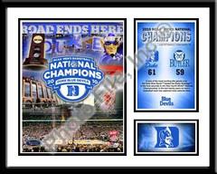 Duke Basketball Memories Framed Championship Picture