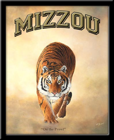 Mizzou Fan Poster Missouri Tigers Football Framed Picture