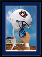 Auburn Victory Helmet Framed Print
