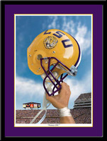 LSU Victory Football Helmet Framed Print