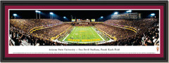 Arizona State Sun Devil Blackout Framed Poster single mat