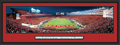 Wisconsin Badgers vs Nebraska Framed Panoramic Print