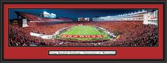 Wisconsin Badgers vs Nebraska Framed Panoramic Print