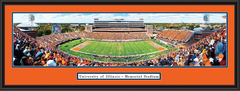 Illinois Illini Memorial Stadium Football Framed Picture