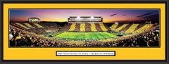 Iowa Kinnick Stadium Black and Gold Spirit Game Picture
