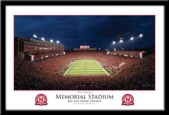 Nebraska The Comeback 2011 Big Ten Home Opener Framed Poster