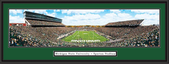 Michigan State vs Michigan Framed Football Picture