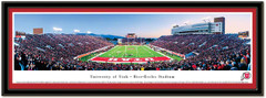 Utah Utes Rice Eccles Stadium End Zone Panoramic Poster matted