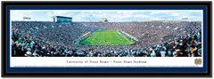 Notre Dame Stadium Framed Panoramic Picture matted