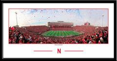 Nebraska Husker Touchdown Balloons Framed Print