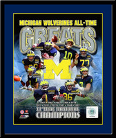Michigan Wolverines All Time Greats Framed Picture