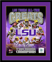 LSU Tigers All Time Greats Framed Picture