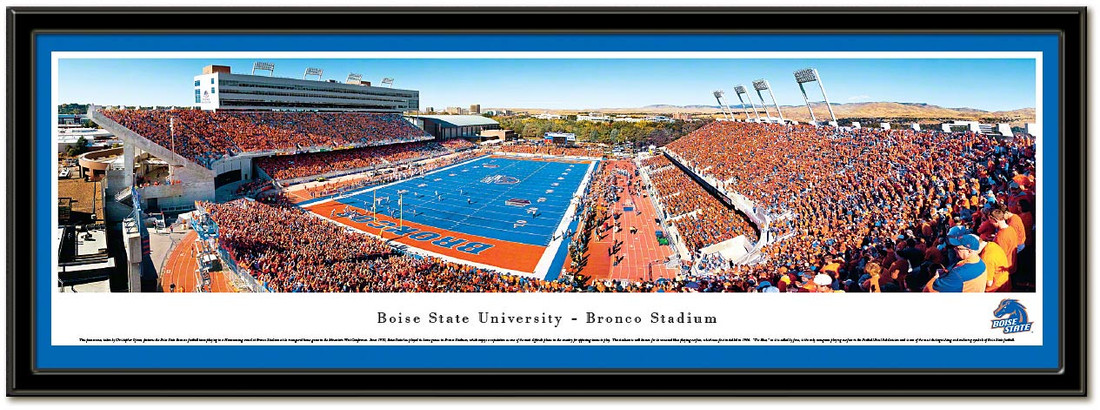 Boise State Bronco Stadium Homecoming Framed Picture matted