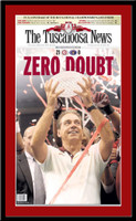 Alabama National Championship Zero Doubt 2012 Headlines Poster