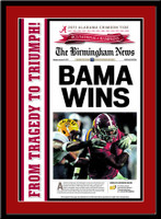 Alabama 2011 Championship Stadium Front Page Poster