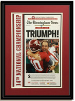 The Birmingham News Triumph 2012 Headlines Poster