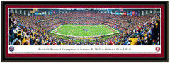 Alabama 2011 BCS National Championship Framed Panoramic Print matted