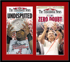 Bama's 2009 and 2011 National Championship Newspaper Headlines