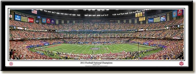 Alabama 2011 Football National Champions Panoramic Print no mat