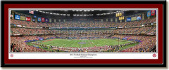 Alabama 2011 Football National Champions Panoramic Print matted