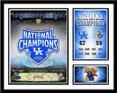 Kentucky Basketball Memories and Milestones Framed Picture
