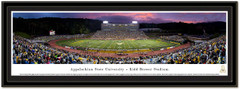 Appalachian State Kidd Brewer Stadium Sunset Framed Picture matted