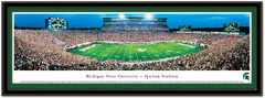 MSU Spartans Home Opener 50 Yard Line Panoramic Picture matted
