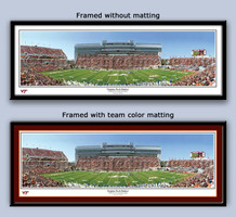 Virginia Tech Hokies Lane Stadium 50 Yard Line Framed Picture