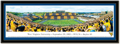 West Virginia Mountaineer Stripe the Stadium Panoramic Picture matted