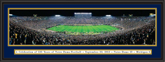 Notre Dame 125 Year Anniversary Framed Picture