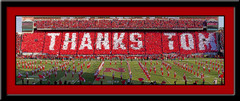 Nebraska Thanks Tom Tribute Memorial Stadium Framed Picture