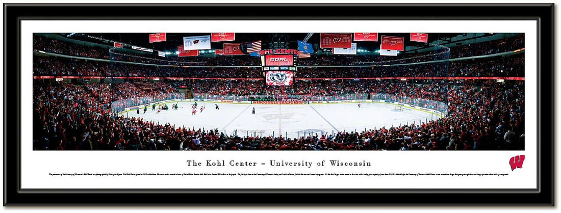 Wisconsin Hockey The Kohl Center Framed Picture no mat
