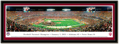 Alabama vs Notre Dame BCS National Championship Framed Picture matted