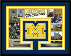 Michigan Wolverine Memories Collage Framed Picture
