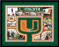 Miami Hurricanes Memories Collage Framed Picture