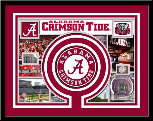 Alabama Crimson Tide Memories Collage Framed Picture