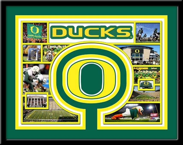 Oregon Ducks Memories Collage Framed Picture